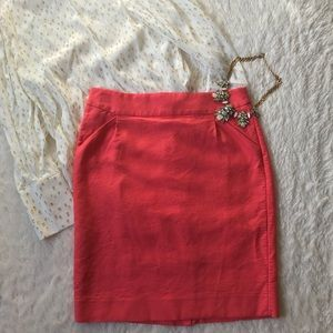 J.Crew California Poppy Pencil Skirt